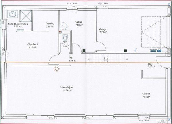 Dimension Suite Parentale : Plan rdc